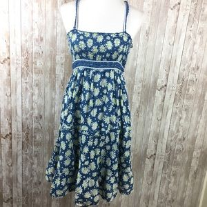 Free People Blue White Floral Sundress Size Small